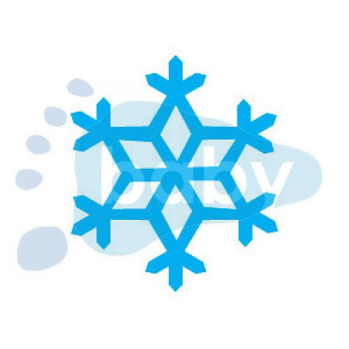 Razítko sněhová vločka 7 4 x 4,5