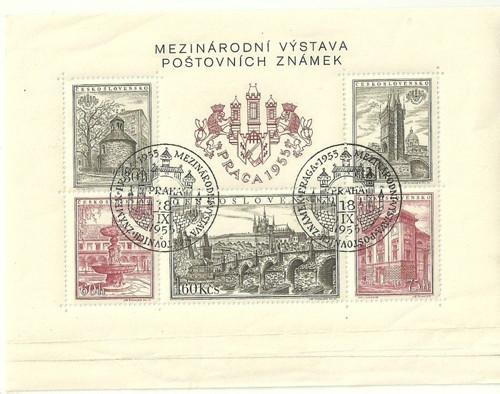 Z historie mezinárodní výstava známek 1955