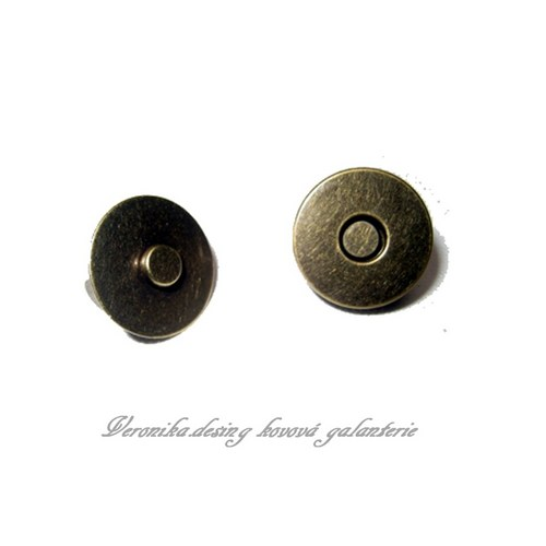 Magnetický buldok - 18 mm staromosaz sada 5 kusů