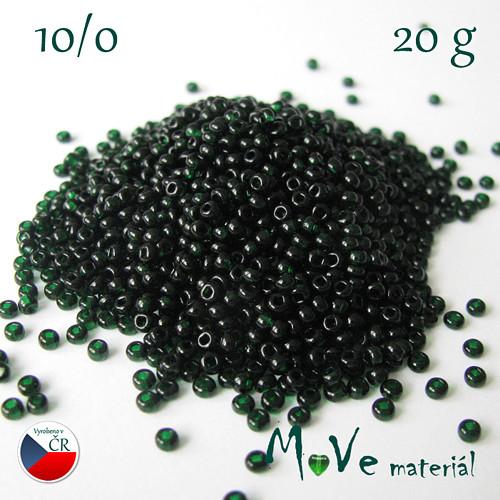 Český rokajl zelený, 10/0, 20 g