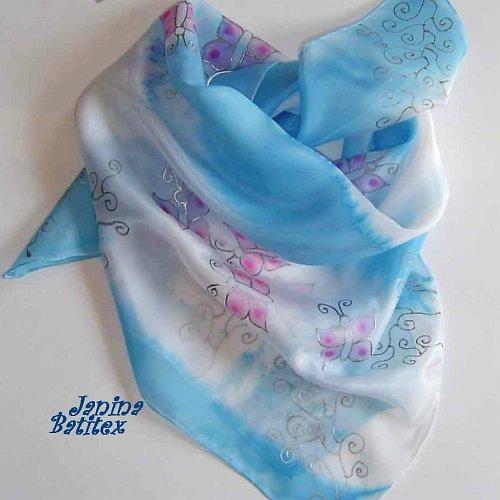 Hedvábný šátek - Nebe