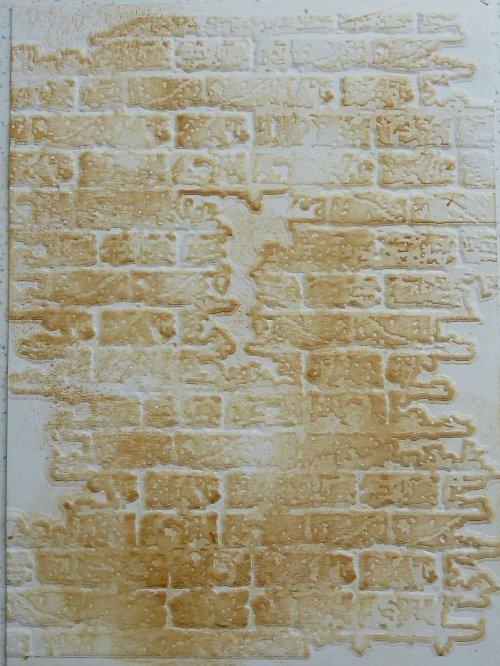 Embossovaný polotovar k dotvoření - zeď