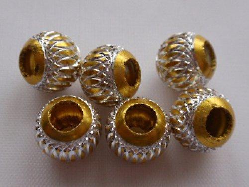 Korálek kovový zlatý (10 mm)