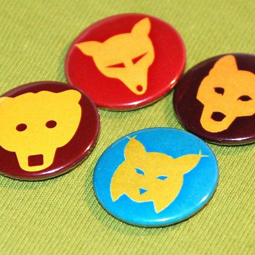 Motivy ŠELMY - medvěd, vlk, rys, liška