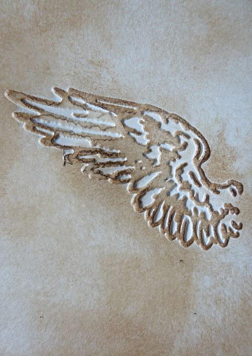 Embossovaný polotovar  - křídlo