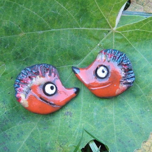 Náušnice ježek