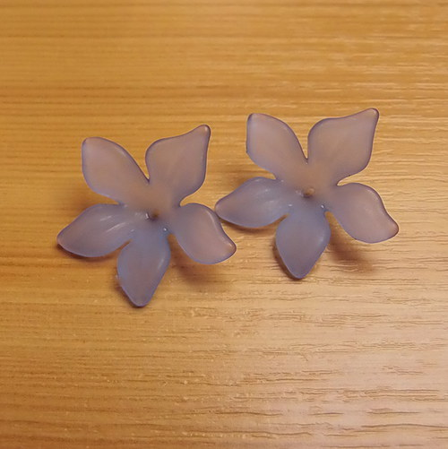 Akrylové kytičky - 29 x27 mm - 5 kusů