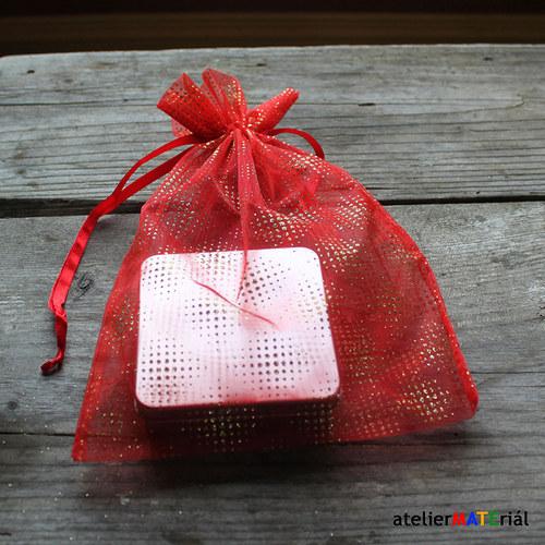 Organzový sáček - Vánoční 2 XL
