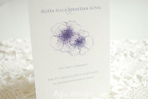 Ano květům - svatební oznámení