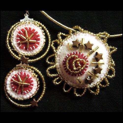 Zimní slunovrat - náušnice a náhrdelník