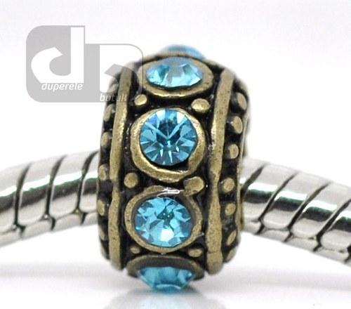 Bronzový mezikorálek, kroužek s krystaly