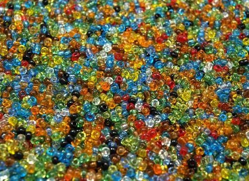 Rokajl skleněný 2mm MIX barev 20g čirý