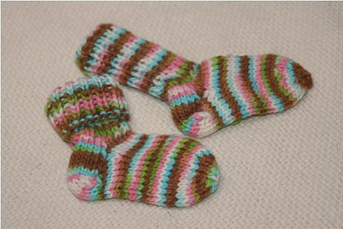 Vlněné ponožky na nožku 9-10cm...