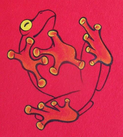 žabka žlutoočka