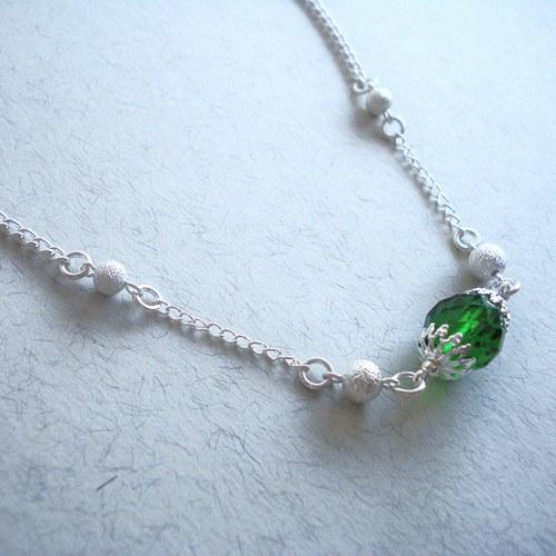 Zelený  náhrdelník - SLEVA !!!