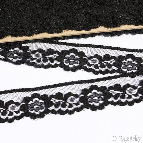 Krajka syntetická-šíře 2,8 cm,černá - ZBYTEK 3,6 m