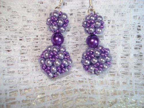 Šité kuličky fialové