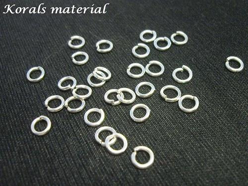 2101 spojovací kroužek STŘÍBRNÝ 5 mm;100 ks