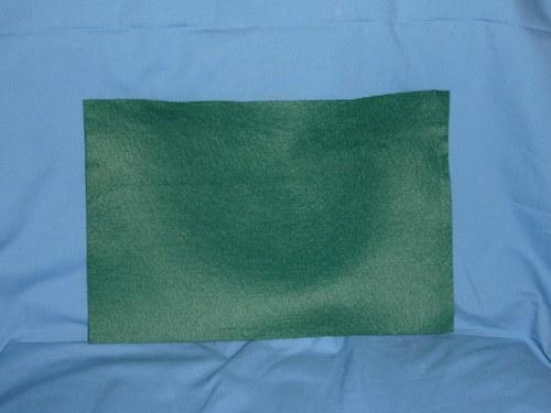 Filc oTmavě zelený 20x30cm