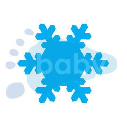 Razítko sněhová vločka 8 4 x 3,5