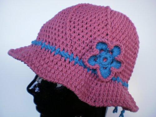háčkovaný klobouk - sleva