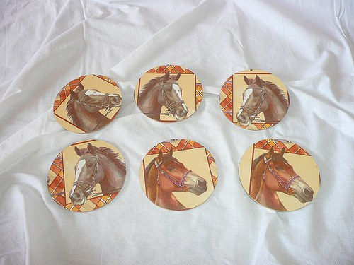 Podložka pod hrneček - kůň