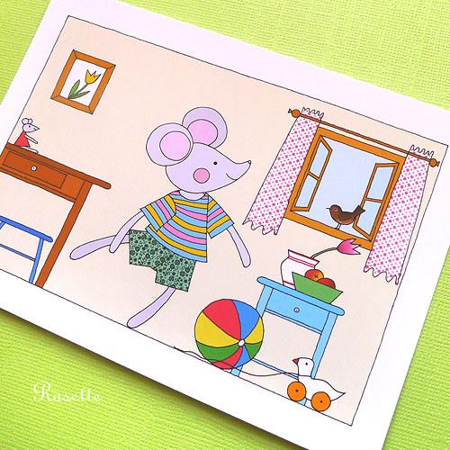 Každé ráno Maruška cvičí  -  pohlednice