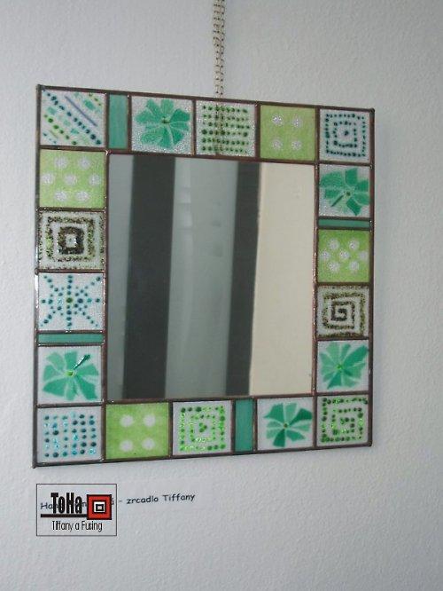 Zrcadlo -Zelené kostičky