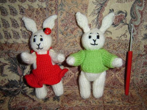 Pletení velikonoční zajíčci :-)