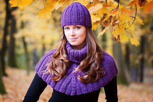 Popis - návod na pletenou čepici žebrovanou