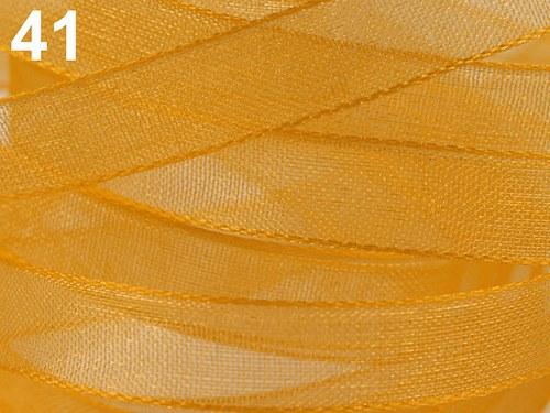 stuha šifonová / 6mm / žluto oranžová /   3m