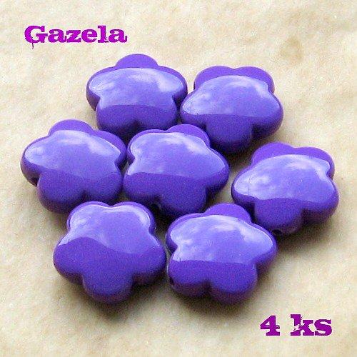 Kytičky fialové - 4 ks