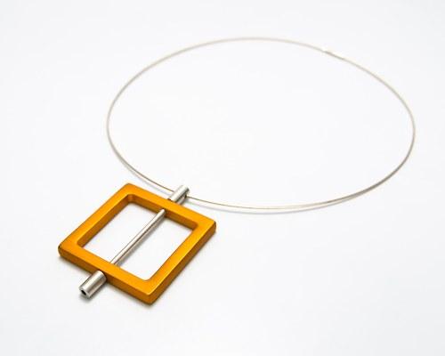 náhrdelník ze série [modulor] - čtverec