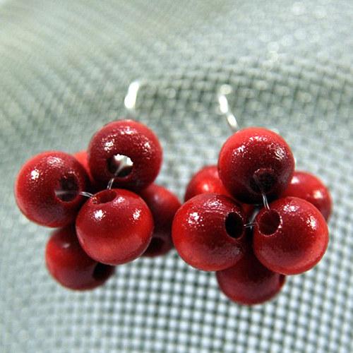 Náušnice Berries Red