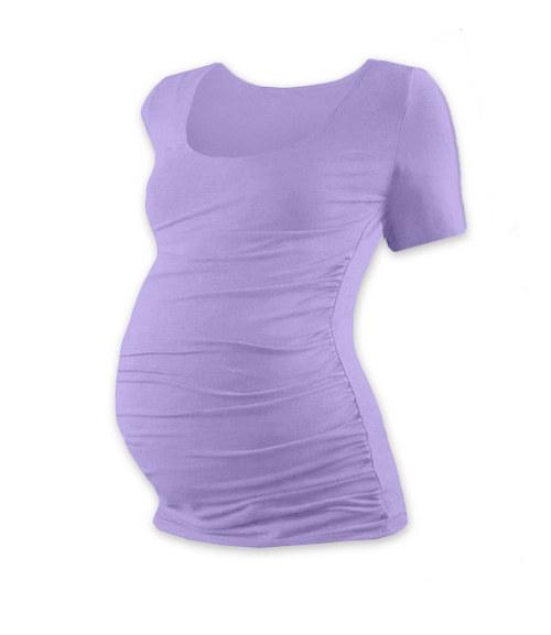 Těhotenské tričko KR levandulové