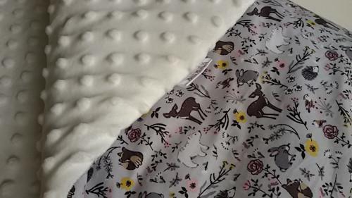 zimní deka - zimní zvířátka