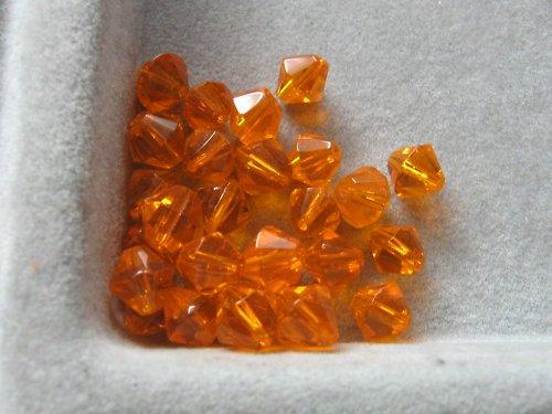 Sluníčka - oranžová 6 mm / 10 ks