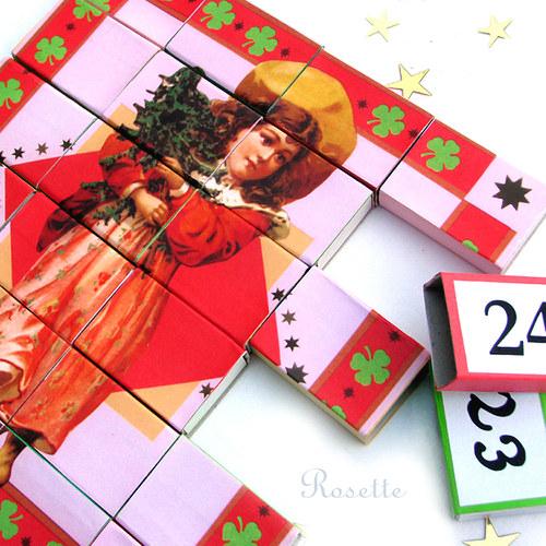 Cesta do vánoc - obrázek pro výrobu puzzle