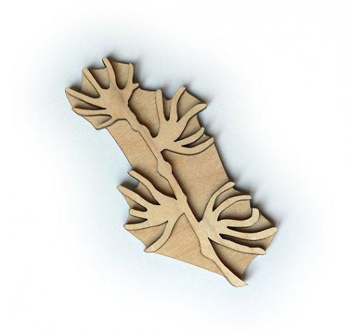 Dřevěné razítko - větvička