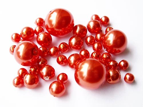 Voskové perle - oranžová směs