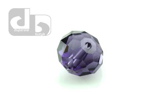 Fialové broušené skleněné korálky 10 ks/9 mm