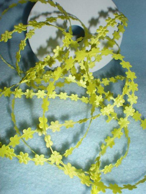 Aplikace květinka v metráži-žlutá-7mm (11)