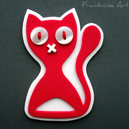 Červeno bílá kočka