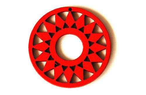dřevěná kolečka- červená