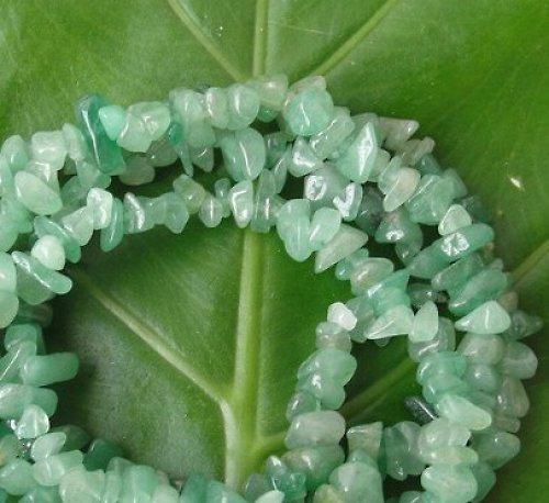 Zelený avanturín-zlomky, cena za 10cm