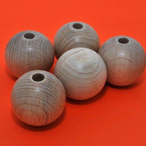 Korálky dřevěné 5 ks / 40 mm