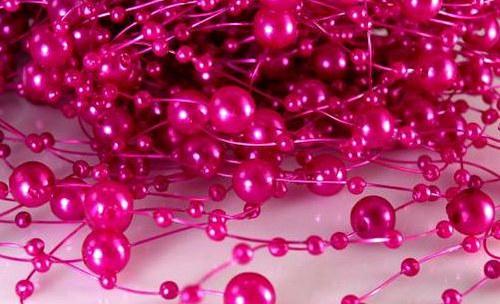 Perličky na silikonu: Růžovo-fialové