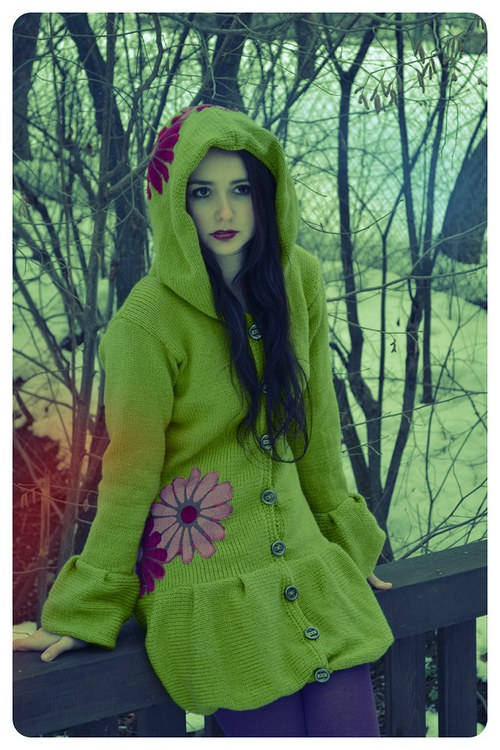 Kabátik zelený