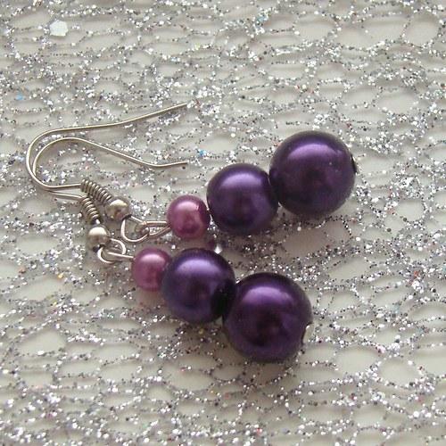 náušnice violet