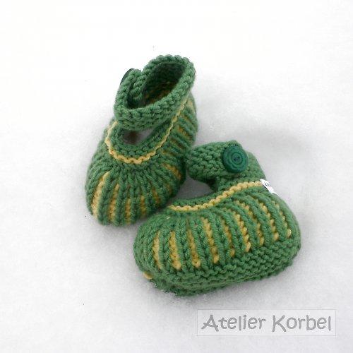 Zelenožluté capáčky, merino, vel. 9 cm
